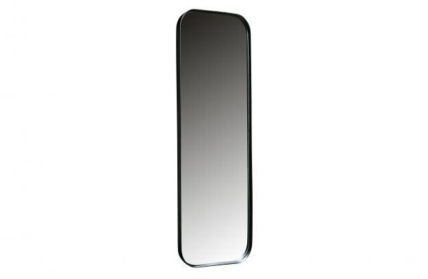 DOUTZEN MIRROR METAL BLACK 170x40CM