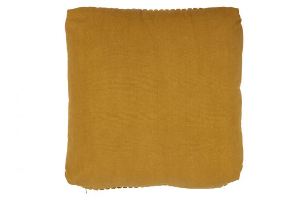 EDGE CUSHION VELVET MUSTARD 45x45