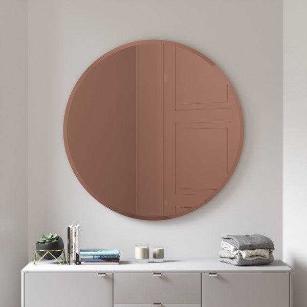HUB MIRROR BEVELED 36 copper