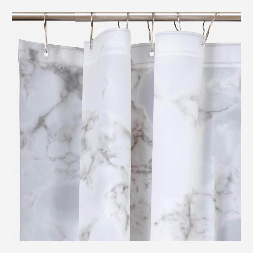 MARBLE/SHOWER CURTAIN 200X180 GREY