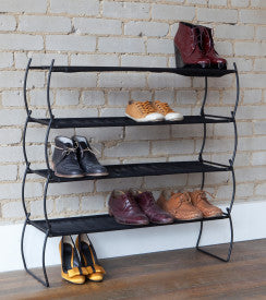 IMELDA SHOE RACKS(2) BLACK
