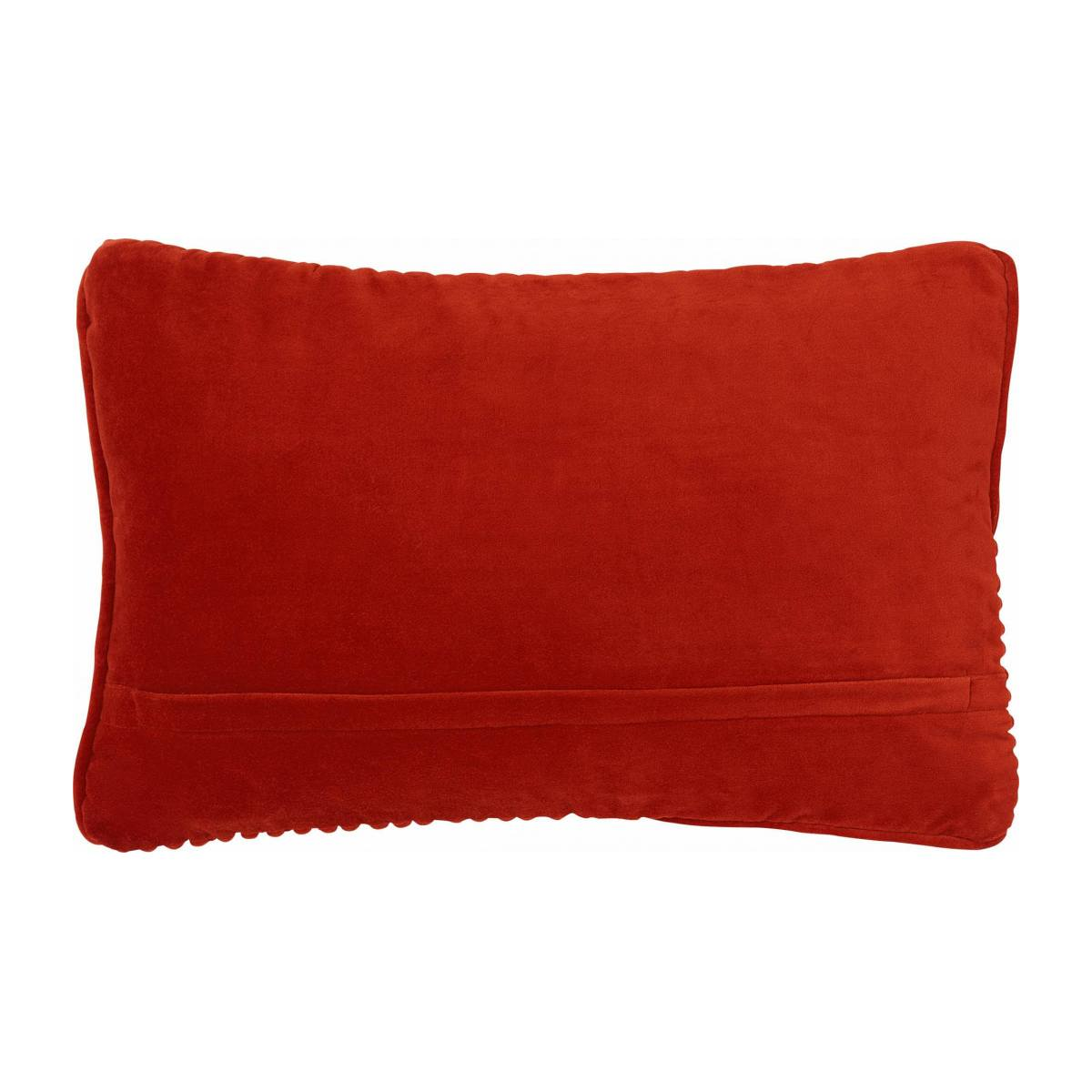 OPPER/CORD VELVET CUSHION 35X50 RUST