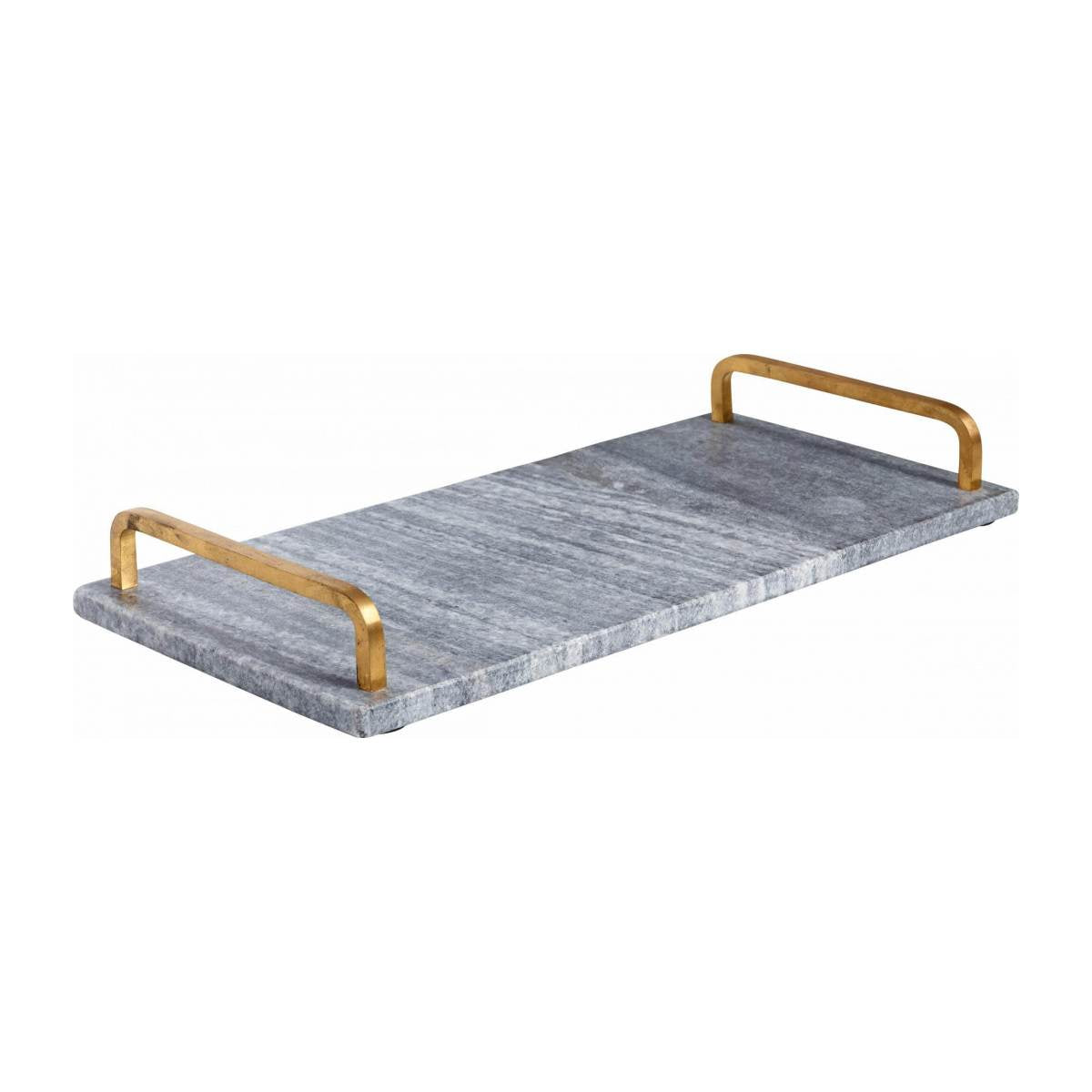 ORUS/MARBLE TRAY RECT. 40X18CM GREY