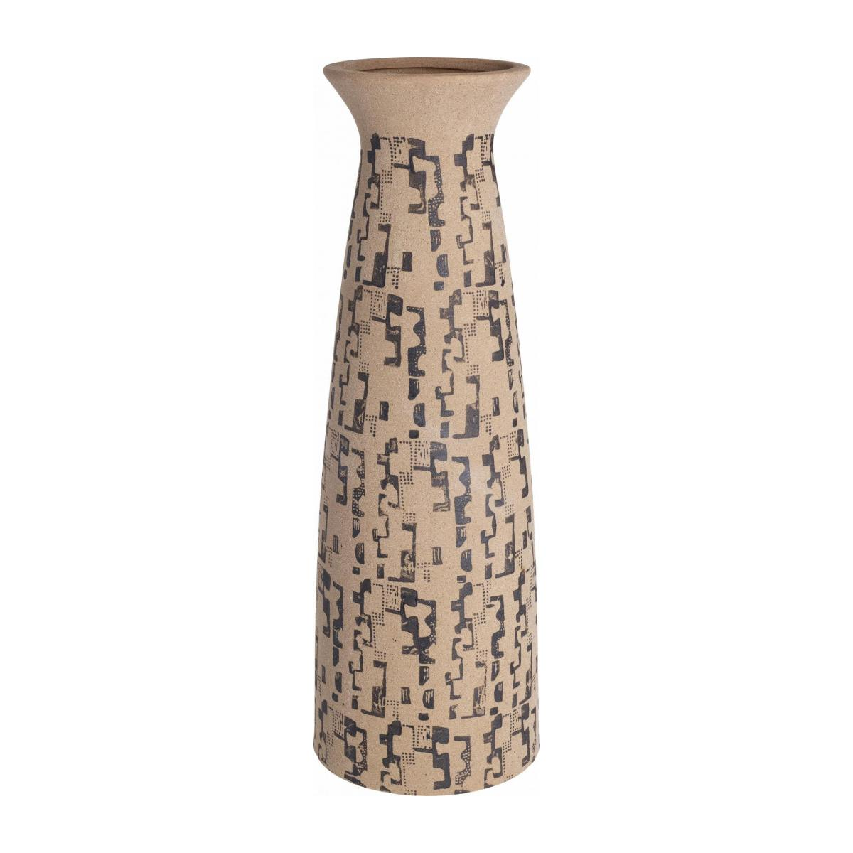 PAGNE/STONEWARE VASE WITH PATTERN XXL