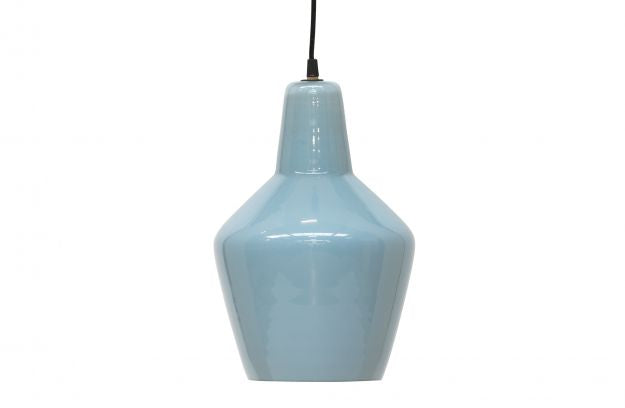 POTTERY HANGING LAMP GLASS BLUEGREY