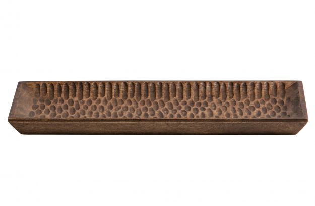 DEVAN TRAY WOOD BROWN 40X20CM