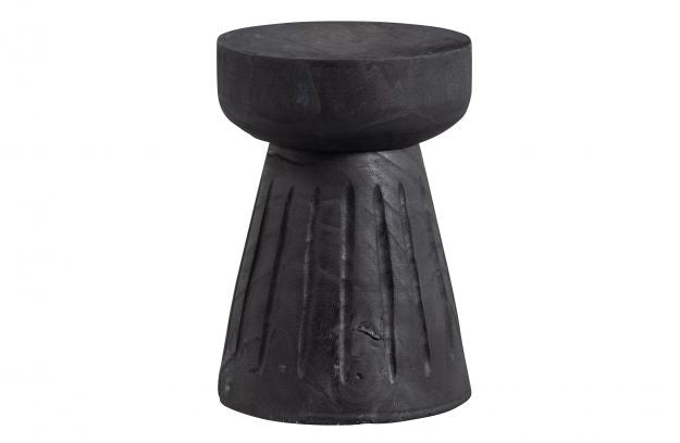 BORRE STOOL WOOD BLACK 40xØ28CM
