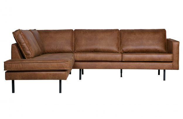 Rodeo corner sofa left cognac