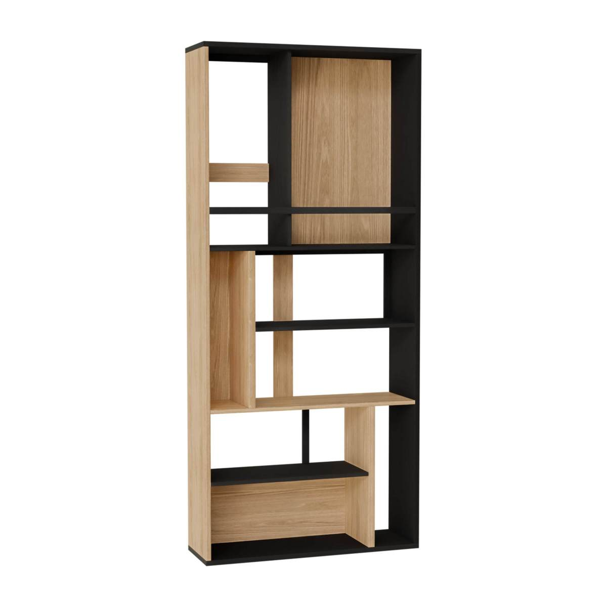 SILEO/BOOKCASE BLACK & NATURAL
