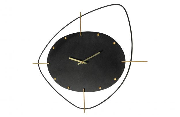 TWO O'CLOCK CLOCK METAL BLACK