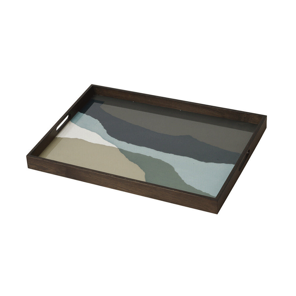 Graphite Wabi Sabi glass tray-RE/L