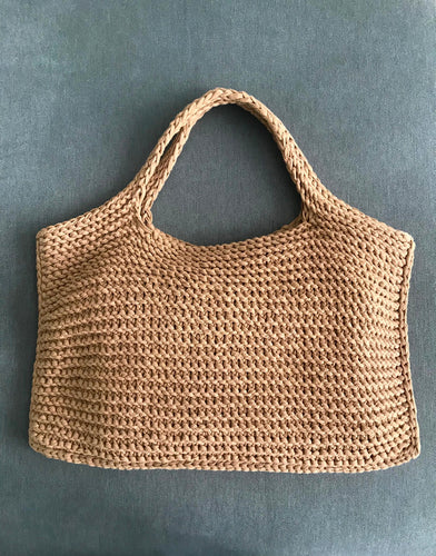 Hand knitted bag 100% cotton