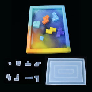 Tetris Building Block Brick Silicone Mold Epoxy Resin DIY Making Tools