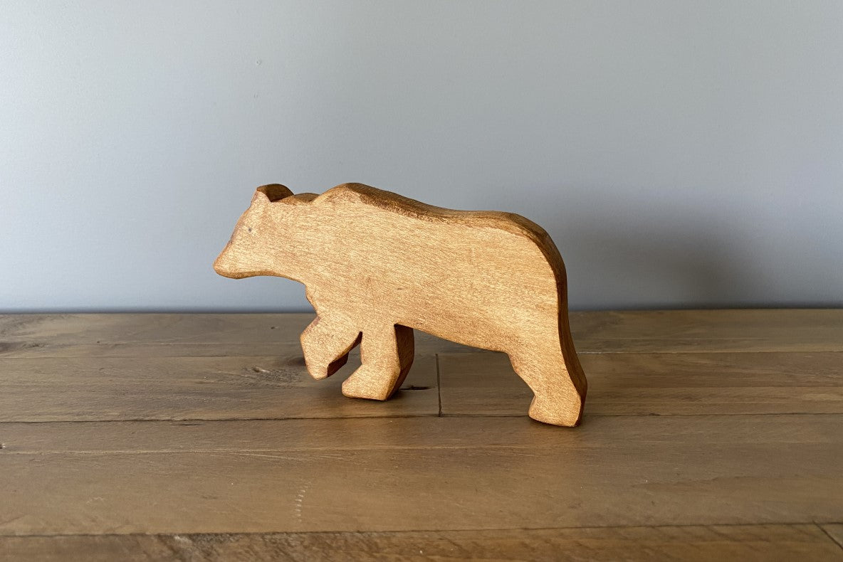 Wooden Bear | Walking all fours