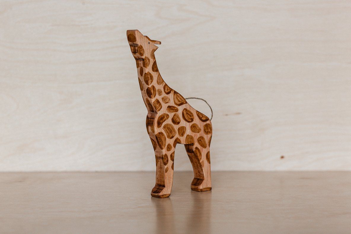 Wooden Giraffe - Stretched