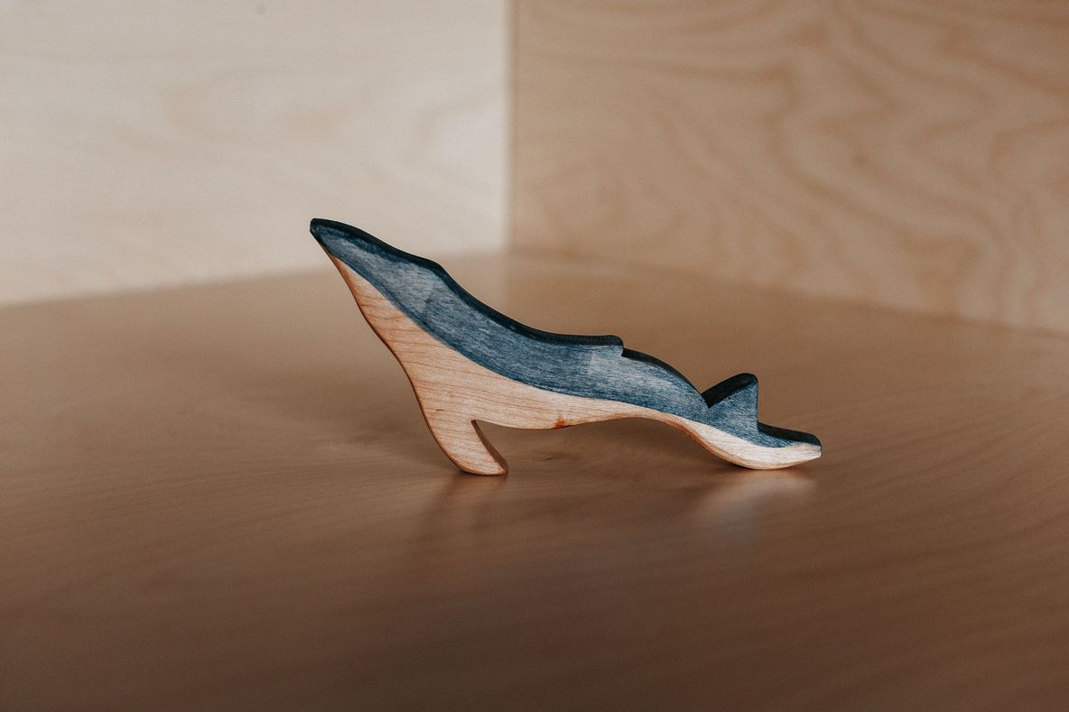 Wooden Humpback Whale Family Pack