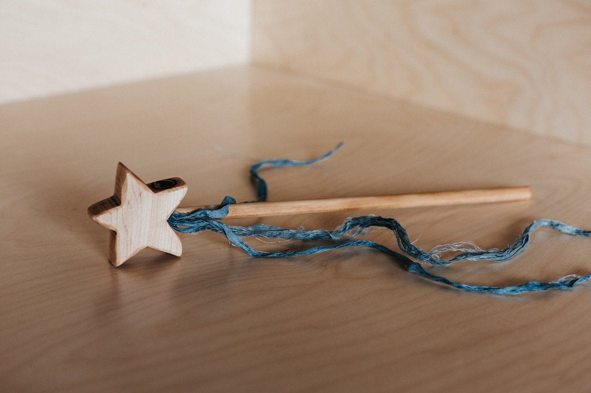 Wooden Magical Wands | Teal Ribbon