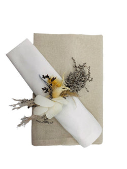 Cotton Table Napkin and Ring