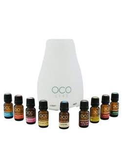 Ultrasonic Diffuser, Humidifier & Purifier 120ml with 9 oil blends