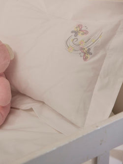 Luxurious Cotton Sateen Baby Duvet Set With Embroidery (350 thread count)