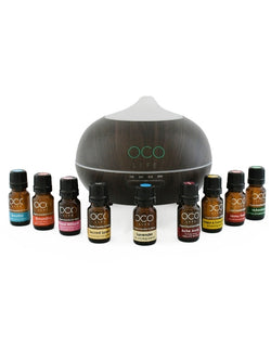 Ultrasonic Diffuser, Humidifier & Purifier 400ml with 9 oil Blends