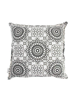 Cushion Cover Mosaic Black