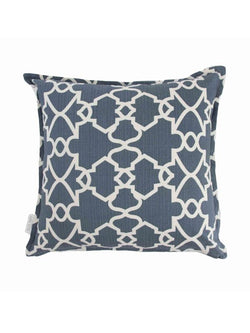 Cushion Cover Trellis Denim