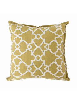 Cushion Cover Trellis Mustard