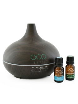 Ultrasonic Diffuser, Humidifier & Purifier 300ml with 2 Oil Blends