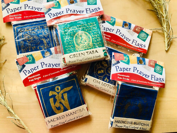 Small Paper Prayer Flags