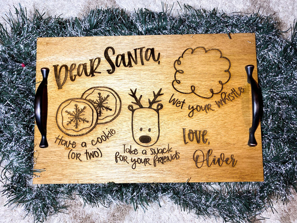 Santa Tray with Handles