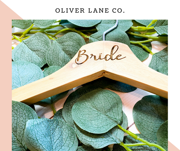 Bride Engraved Hangers