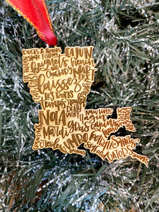All about Louisiana ornament