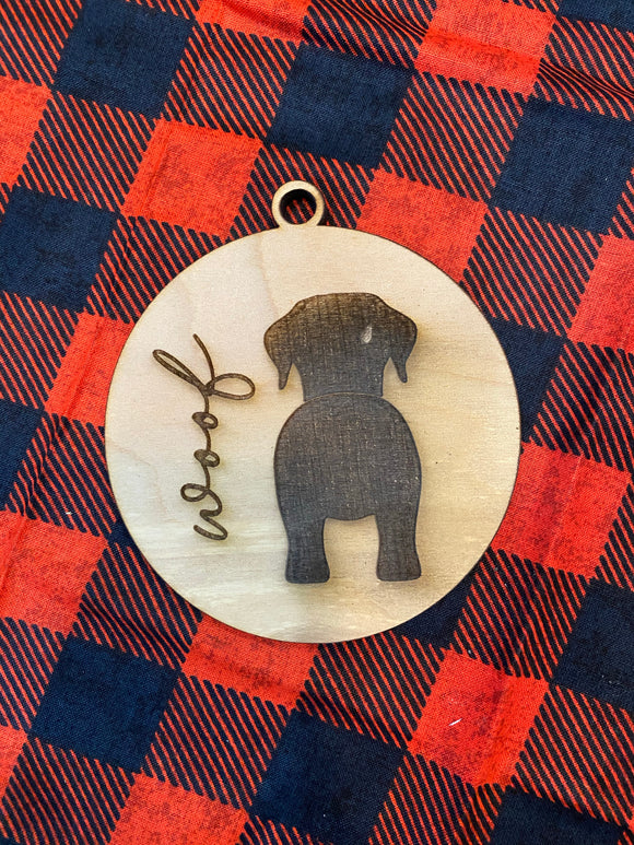 Woof ornament