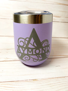 Engraved Wine Tumbler