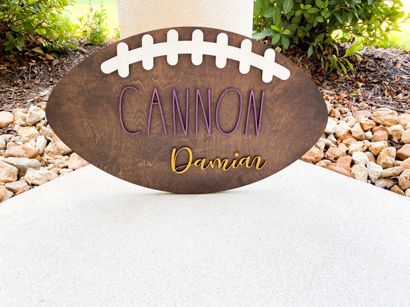 Nursery Football Name Sign