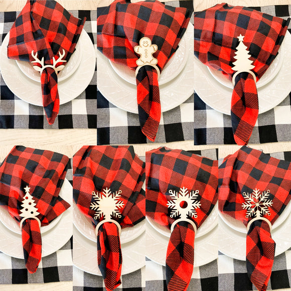 Christmas wooden napkin holders