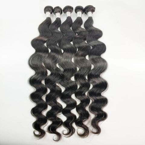 Brazilian Body Wave Hair Bundles Double Weft 100% Remy Human Hair   14,16,18 inches