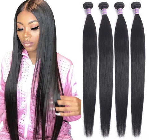 Brazilian Straight Hair Bundles Human Hair 12,14,16,18 inches