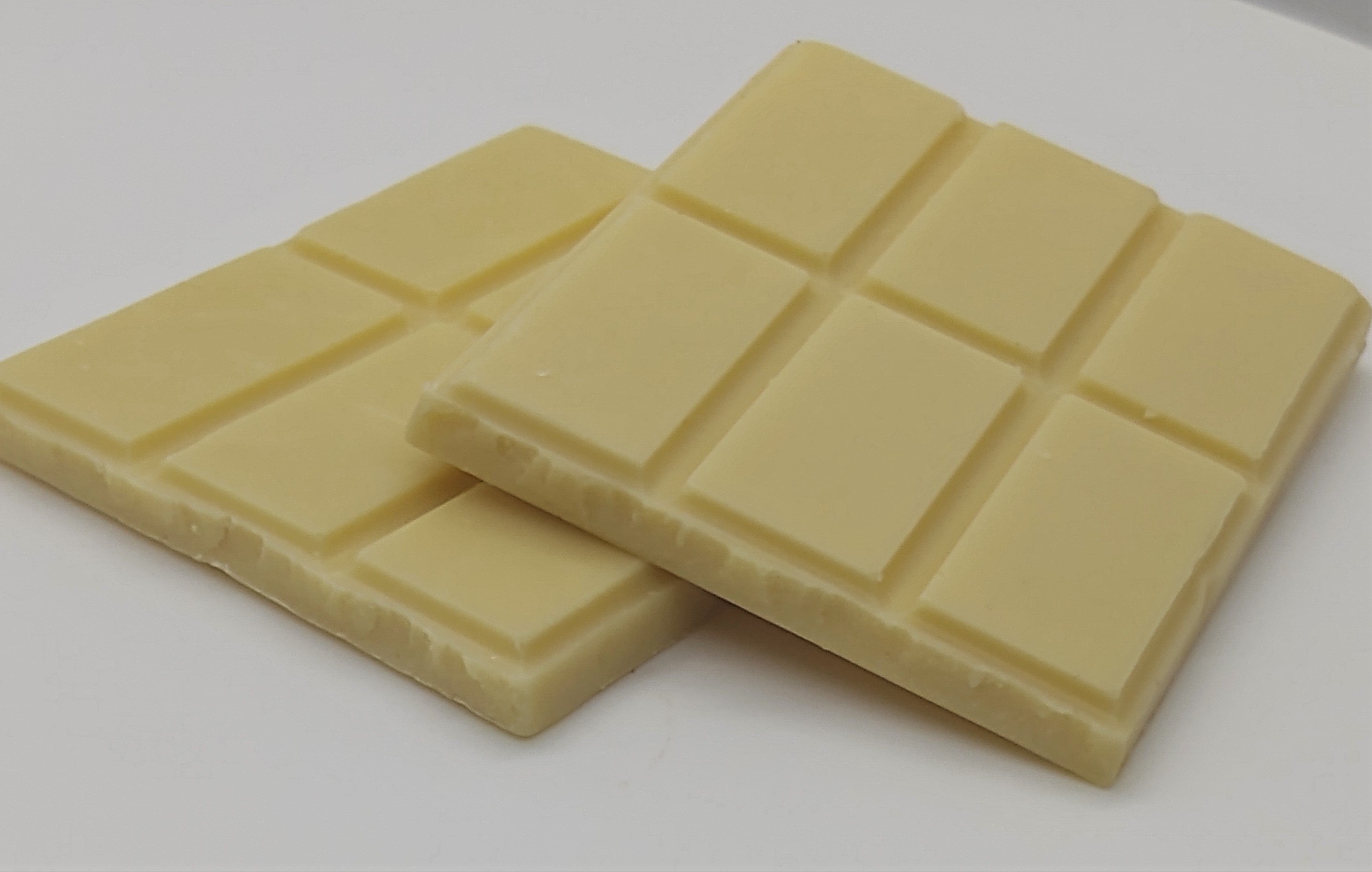 Pictured: a solid white chocolate bar