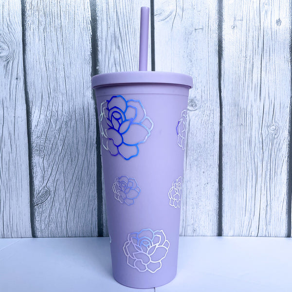 22 oz Floral Personalized Tumbler