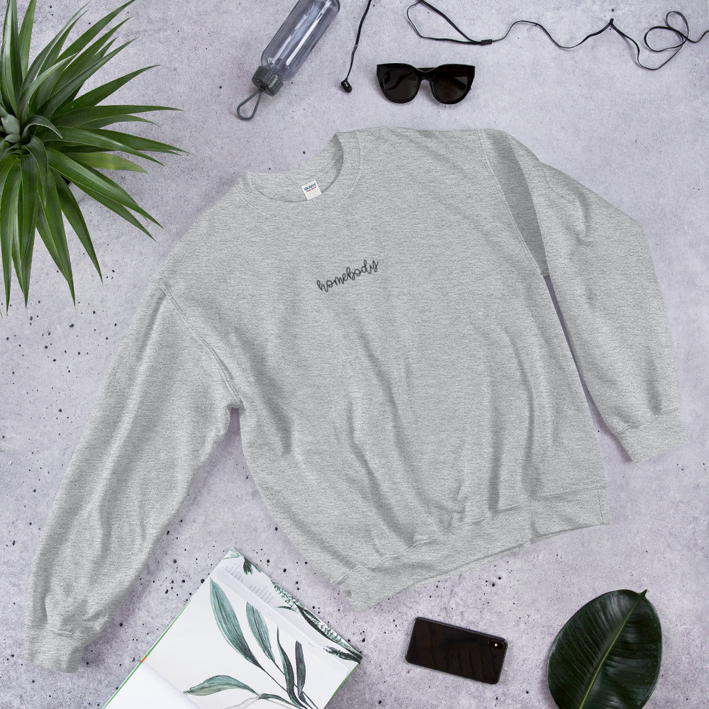 Homebody Embroidered Crewneck
