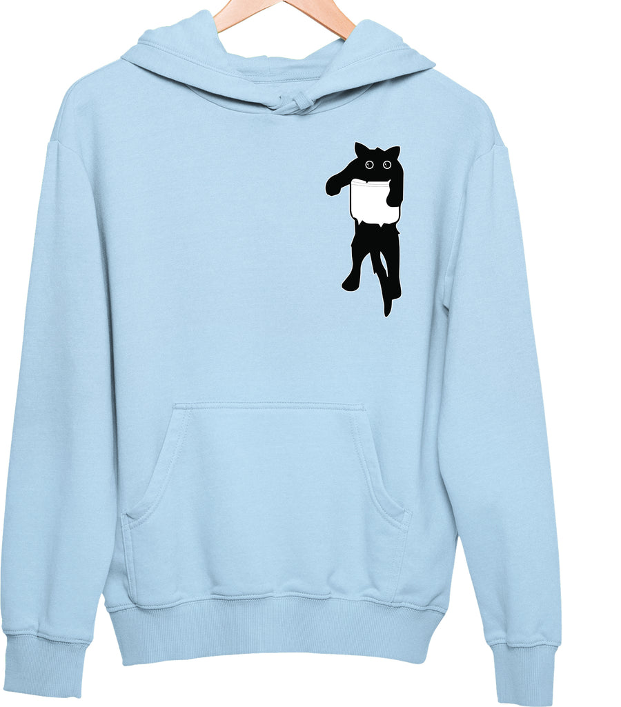 Bansu Pocket Black Cat Unisex Hoodie