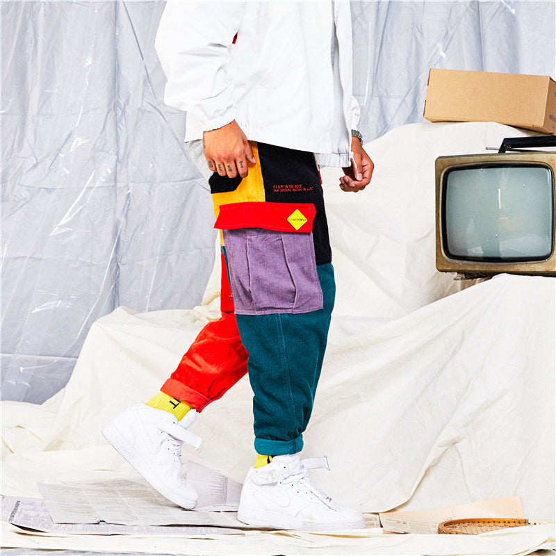Giya Patchwork Japanese Streetwear Men's Pants