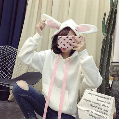 Usagi Cute Kawaii Plush Cosplay Ladies Hoodie