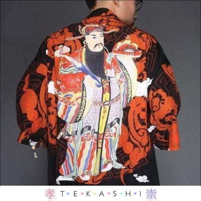 Tekashi Japanese Streetwear 11 / M Paak So Men's Robe by Tekashi Japanese Streetwear