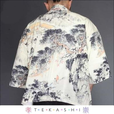 Tekashi Japanese Streetwear 12 / M Paak So Men's Robe by Tekashi Japanese Streetwear