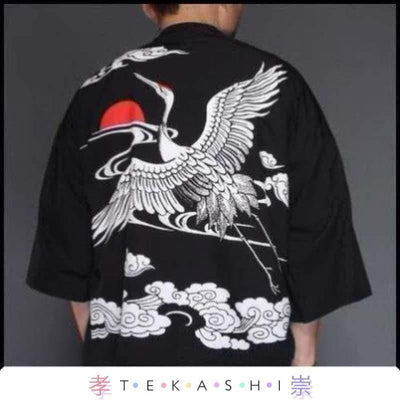 Tekashi Japanese Streetwear 3 / M Paak So Men's Robe by Tekashi Japanese Streetwear
