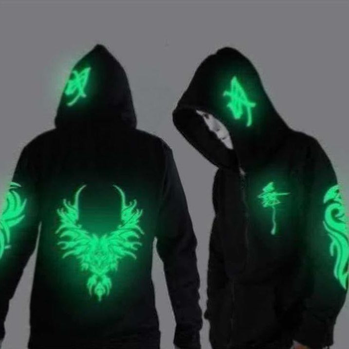 Keri Go Ika Men's Hoodie (Glow in the Dark) by Tekashi Japanese Streetwear