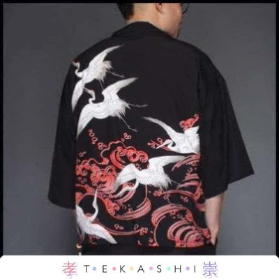 Tekashi Japanese Streetwear 7 / M Paak So Men's Robe by Tekashi Japanese Streetwear